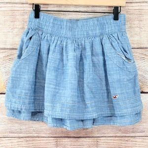 Hollister layered mini skirt